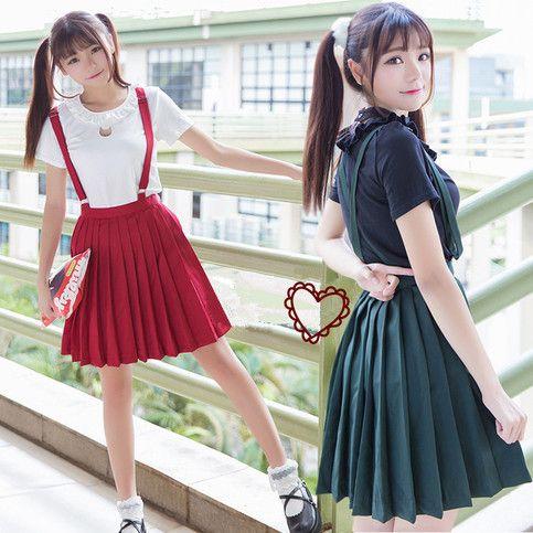 5d9a7b5c1 Japanese harajuku sweet cute cat T-shirt Pleated braces skirt sold by Cute  Kawaii {harajuku fashion}. Shop more products from Cute Kawaii {harajuku ...