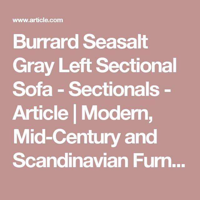 Light gray left sectional sofa upholstered article burrard modern furniture