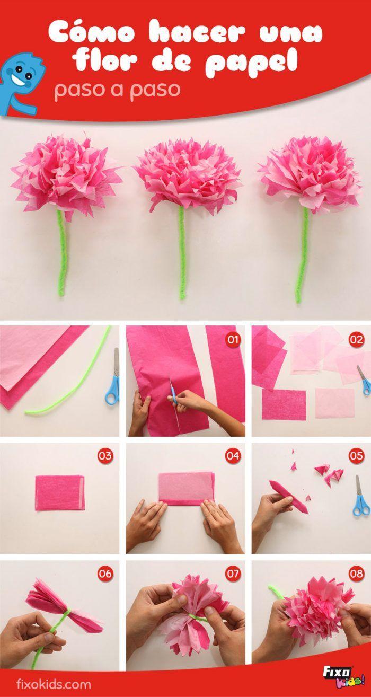 Flores de papel DIY Tutorial paso a paso Manualidades fciles