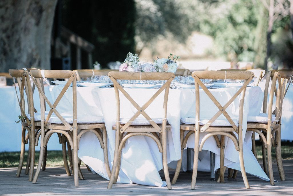 Domaine des Andeols in the South of France - Yana & Stephen - wedding table