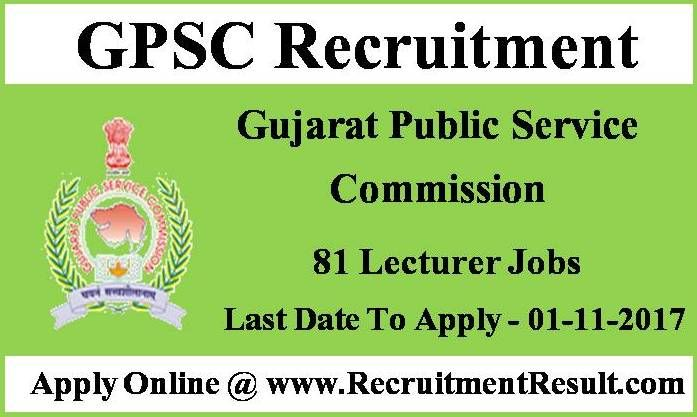 Gujarat Public Service Commission Has Proclaimed Recent Employment