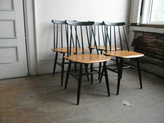 Eosby Verken Swedish Teak Dining Chairs 1930 These Are