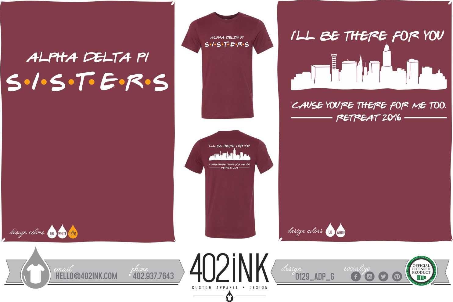 402ink #402style 402ink, Custom Apparel, Greek T-shirts, Sorority T