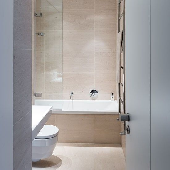 Neutral Bathroom With Large Format Tiles