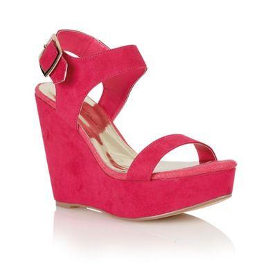 Dolcis Magenta 'Nice' ladies wedge sandals at