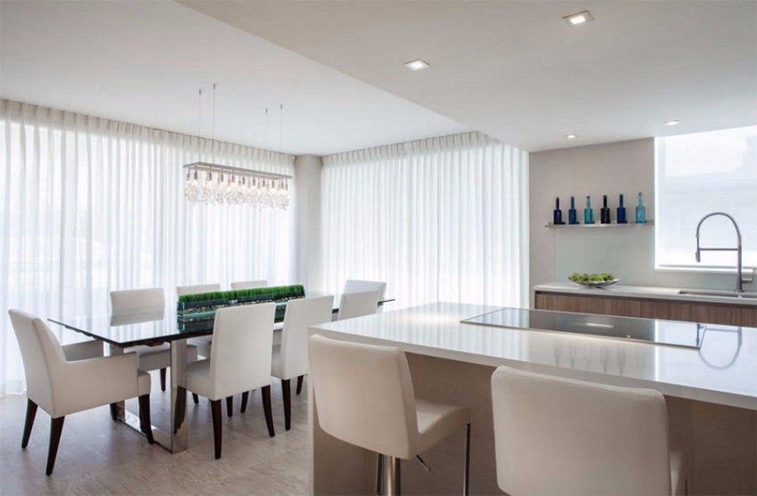 20 Minimalist Dining Rooms Sets With White Chairs