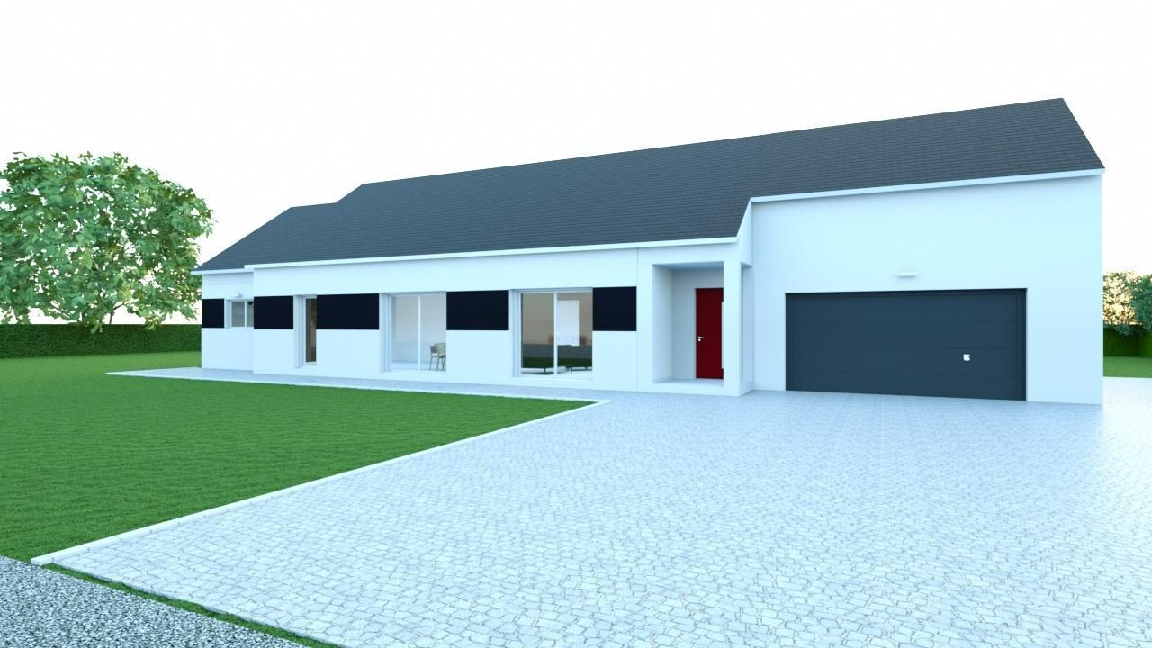 Maison de plain pied projet estissac aube les for Projet maison individuelle