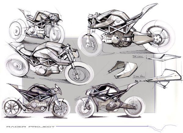 Motorcycle   Café racer project by Maarten Timmer, via Behance