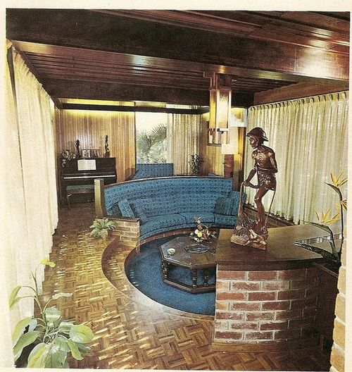 Mid Century Sunken Living Room: A 1970s Conversation Pit.