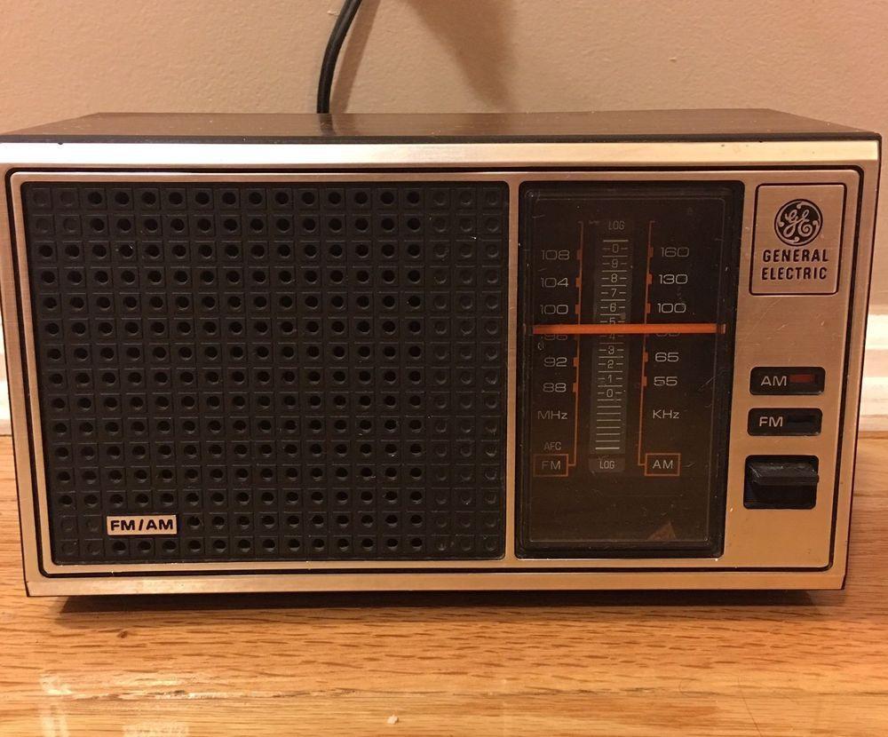 Ge General Electric Am Fm Table Radio Model 7 4115b Walnut Grain General Electric Transistor Radio Radio