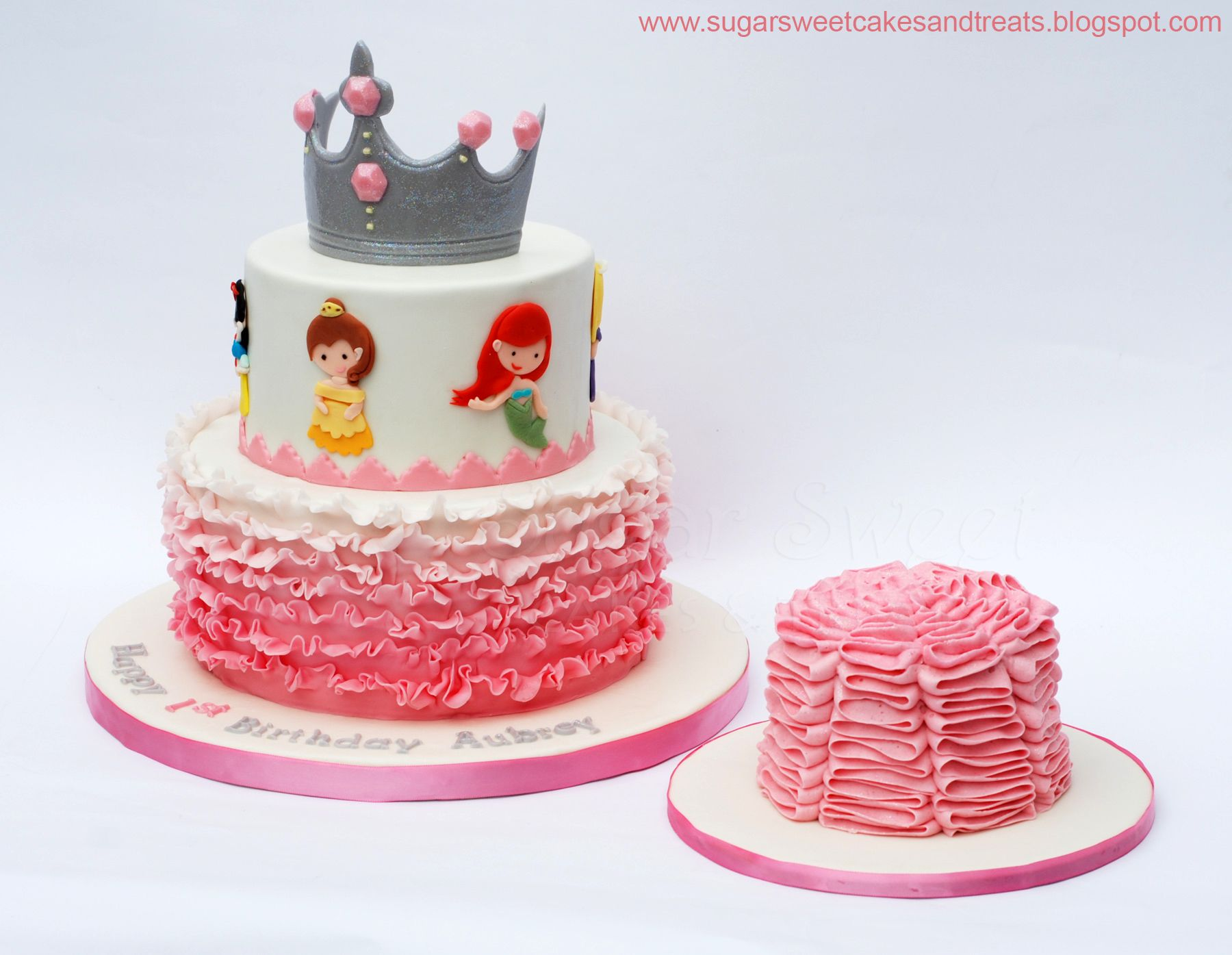 Ombre Ruffled Princess Cake With A 4 Inch Smash First Time Piping