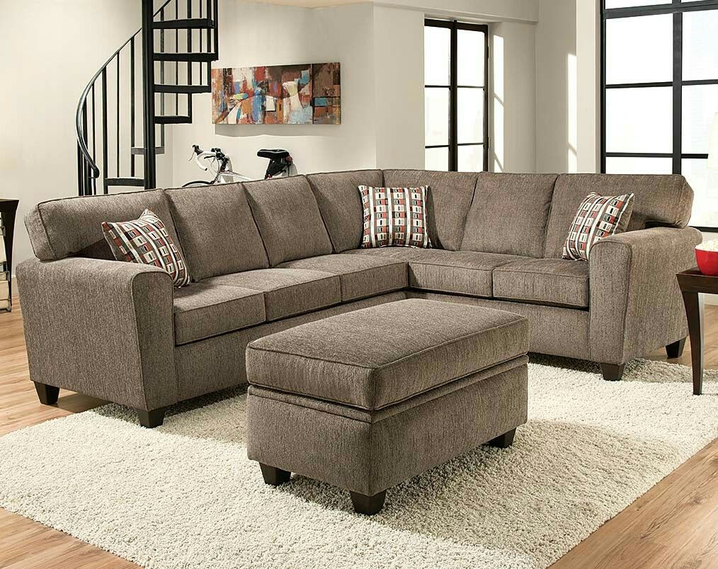 American Freight Mickey Pewter 800 Accent Color Orange Green Cream Sectional Sofa Sectional Sofa Couch Chelsea Home Furniture