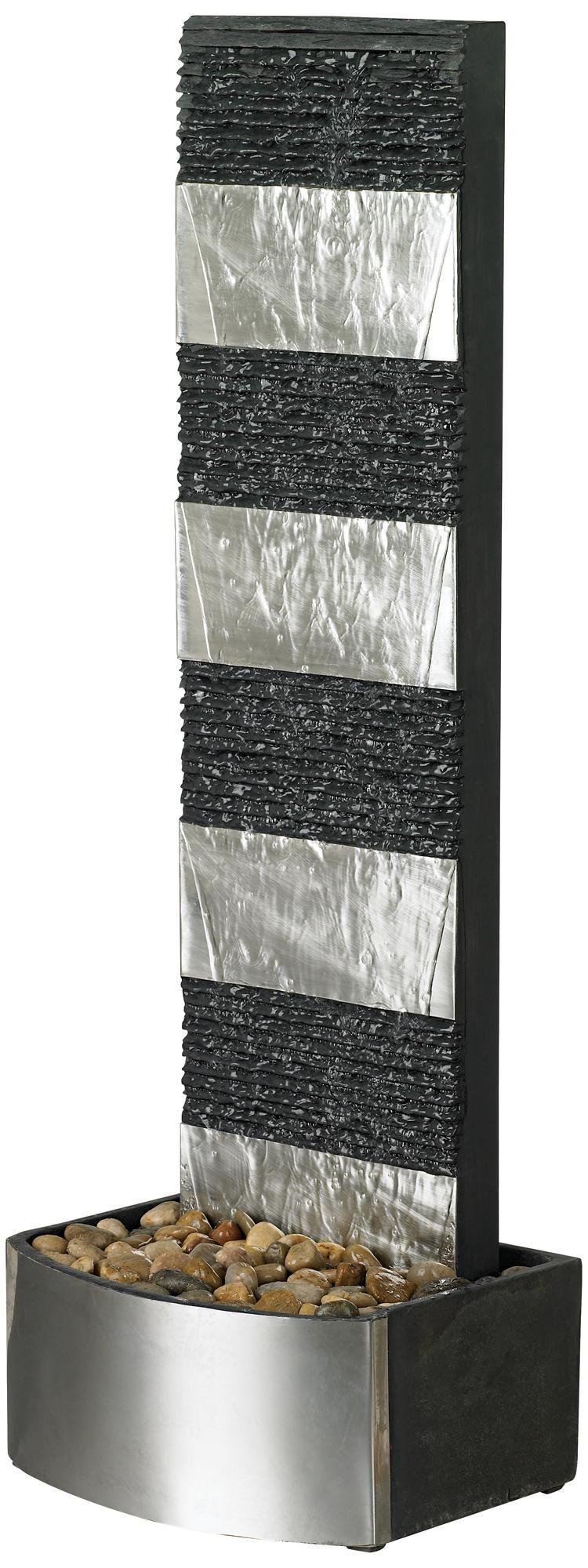 "Waterfall Slate 40"" High Floor Fountain | LampsPlus.com"