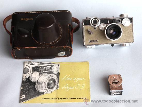 camara de telemetro argus c3 matchmatic con funda cuero y manual de rh pinterest co uk Argus C4 Argus C3 Matchmatic Film