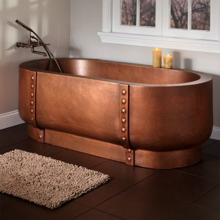 bathroom large copper bathtub acrylic kohler tubs large bathtubs claw foot soaker deep shower - Copper Bathtub