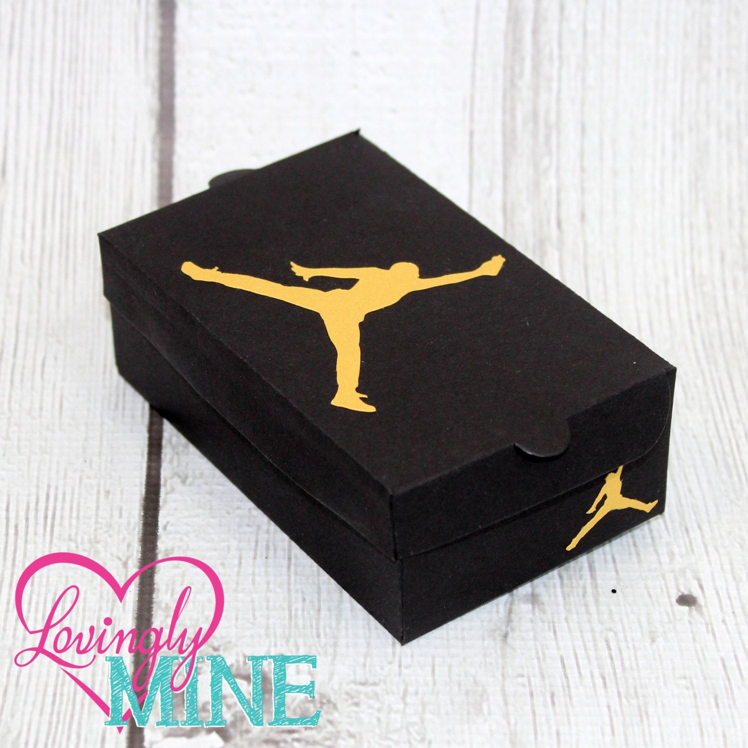 f625096302 Mini Shoe Box Favors - 10 Per Set - Assembly Required - Jordan Inspired Baby  Shower