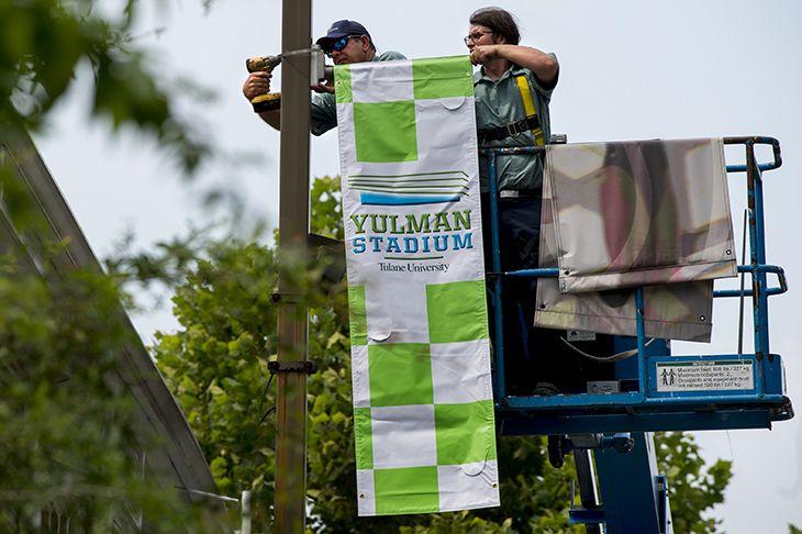 Tulane University On Campus Stadium Spurs Preparation Outdoor
