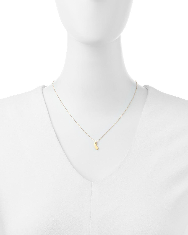 I Heart California Pendant Necklace
