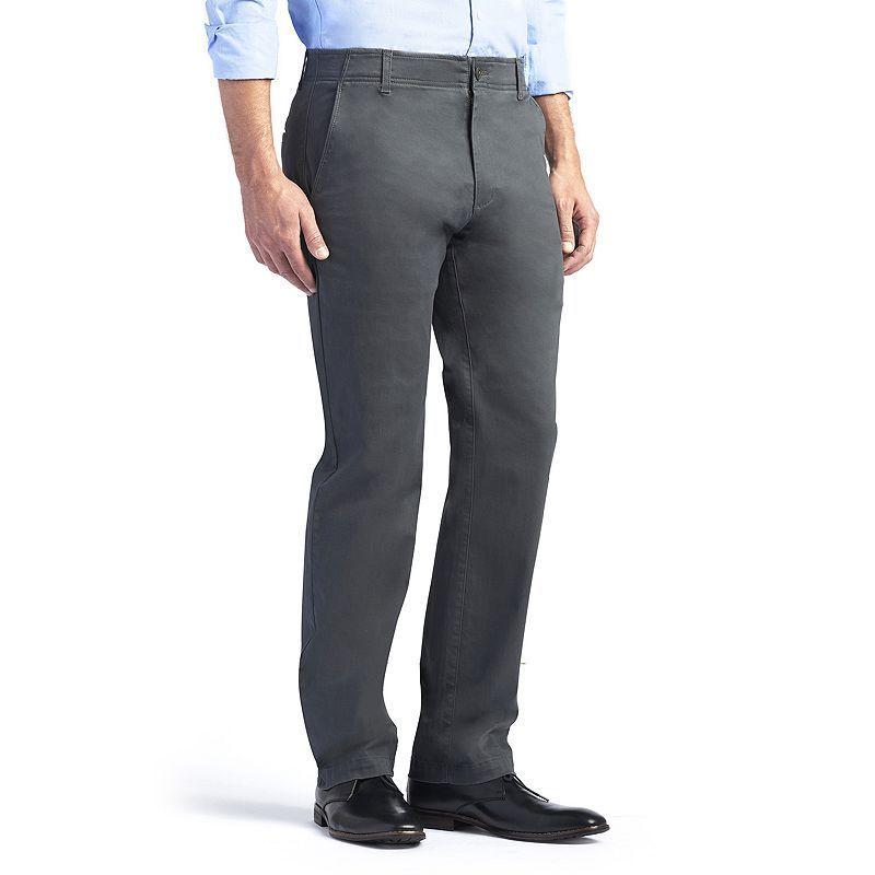 60a74d4c65a Men s Lee Performance Series Xtreme Comfort Khaki Straight-Fit Flat-Front  Pants