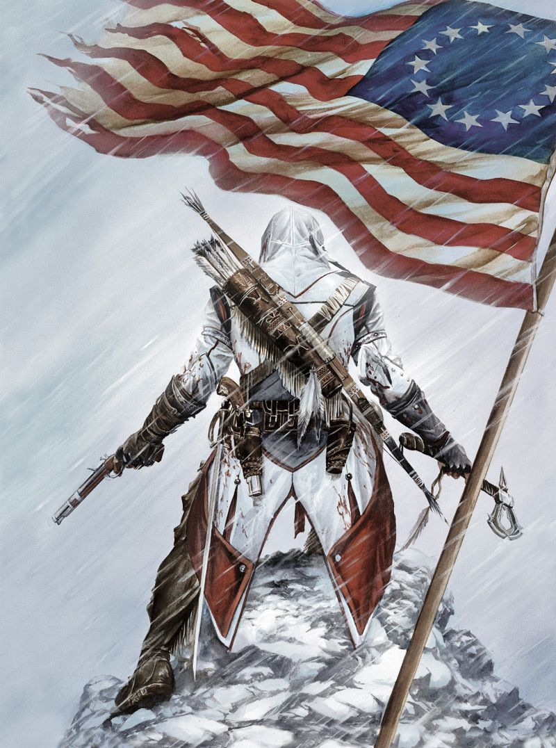 While Working Assassin S Creed Iii Ubisoft Brand Comic Book Artist Alex Ross Created A S Assassin S Creed Wallpaper Assassins Creed Assassins Creed Artwork