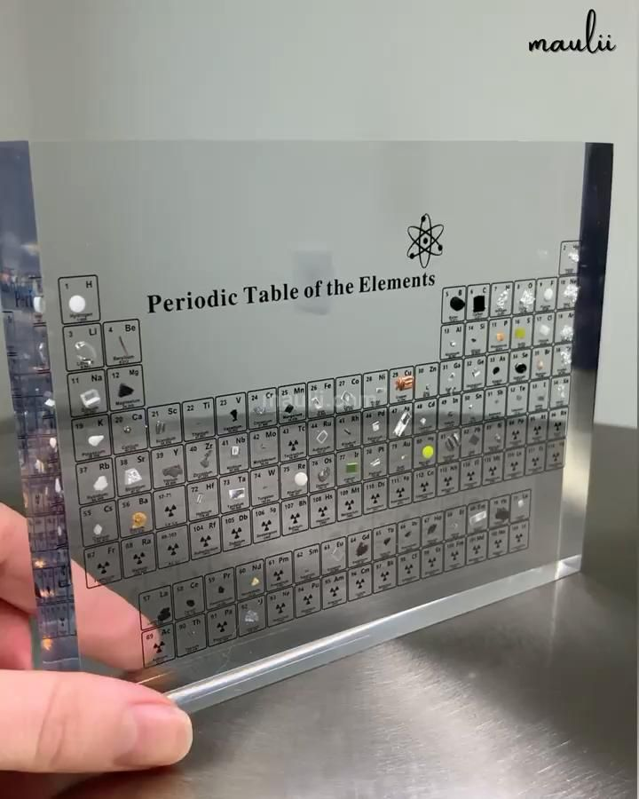 Real Element Periodic Table Video Video In 2021 Periodiek Systeem Wiskunde Idee