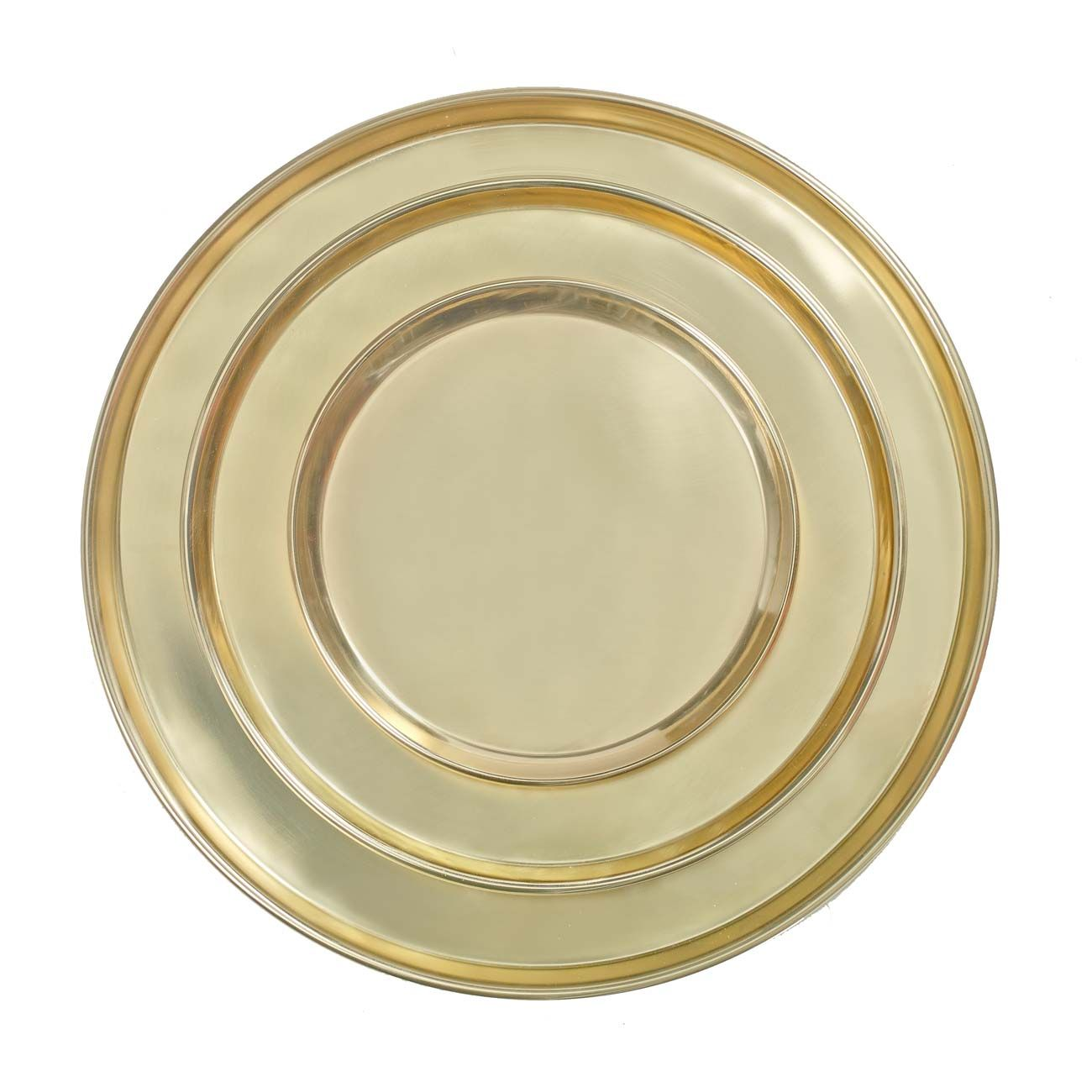 Tablett rund, goldfarben, groß