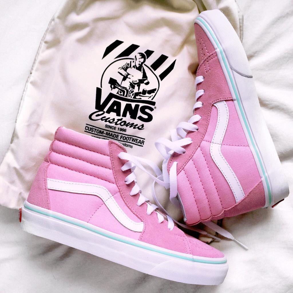 Pink vans, Vans, Custom vans