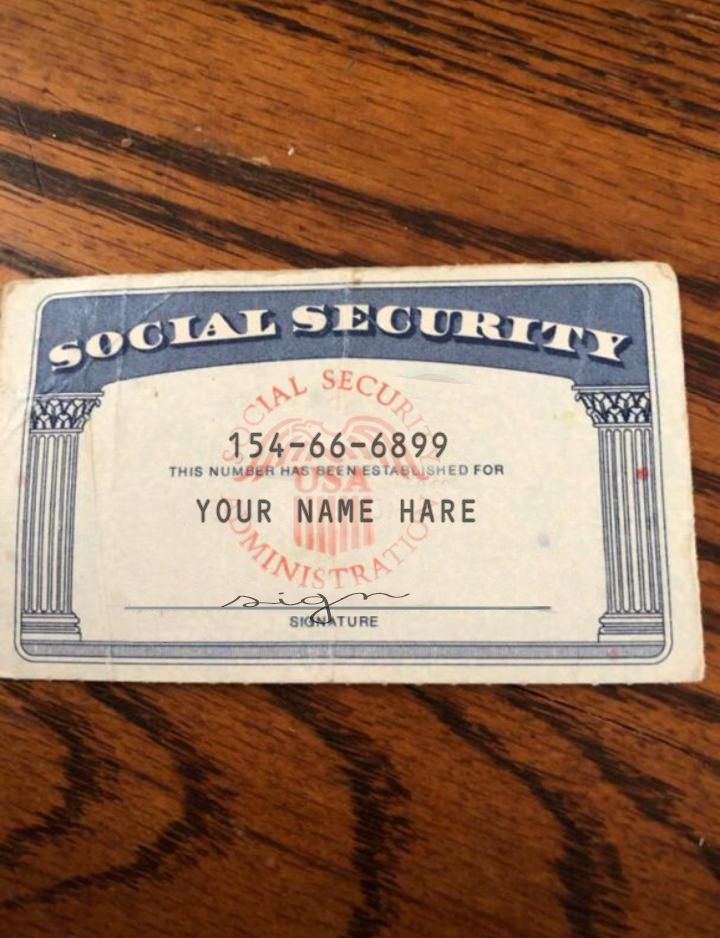 SSN Editable social security card social security card #Social_security_generator #Social ...