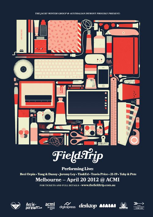 Thingsorganizedneatly SUBMISSION Field Trip Poster By Beci Orpin For Jacky Winter Group