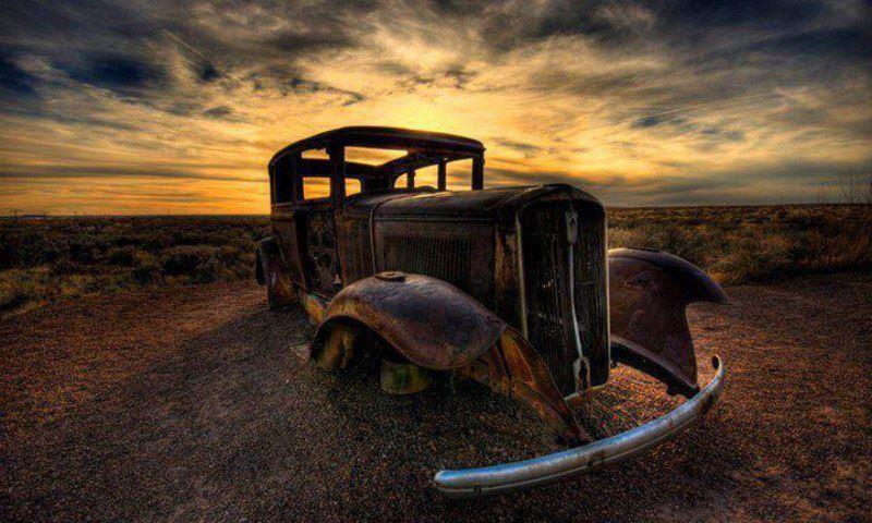 Sunset Abandoned Cars Abandoned Old Cars
