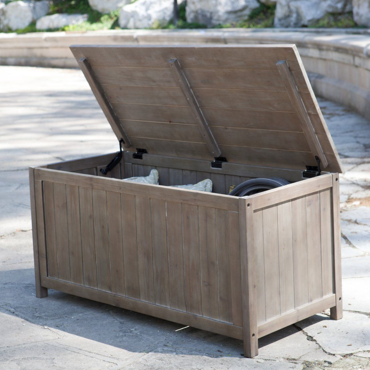 Gardeners Choice Deck Storage Box Antique Grey Patio