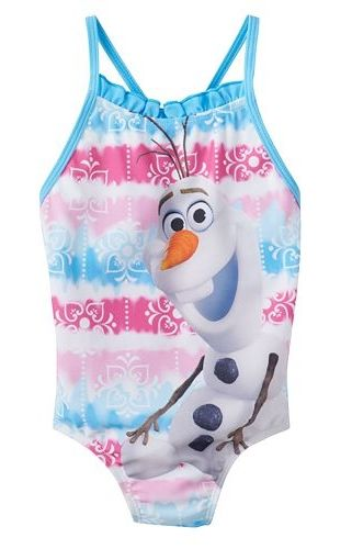 "DISNEY/'S FROZEN /""OLAF/"" ONE PIECE SWIM SUIT 2T 4T"