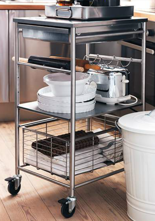 Add Counter Or Storage Space With This Ikea Grundtal