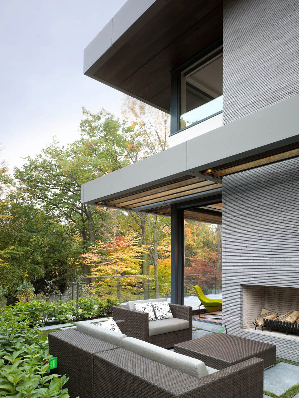 Nature and terrace details awarded contemporary home with beautiful garden in toronto canada