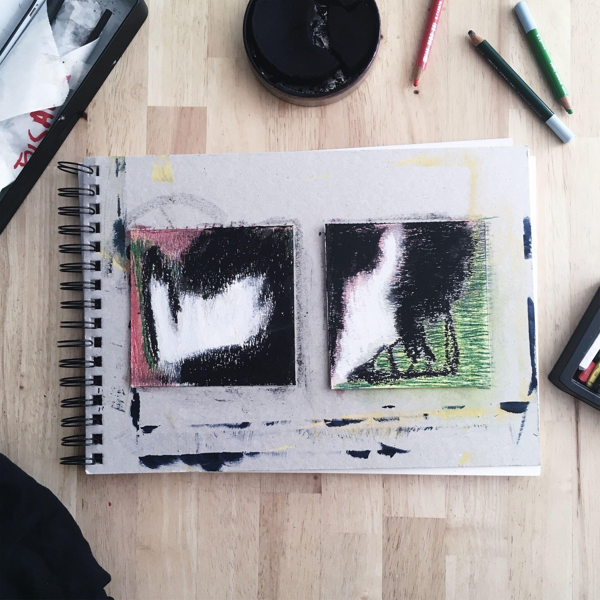Exercice De Peinture Intuitive Sur Petit Format Avec Pastel Sec