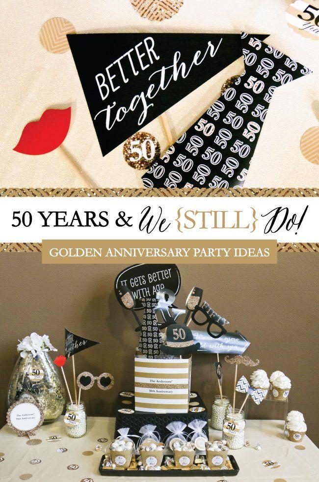50th Wedding Anniversary Party Ideas Golden Anniversary
