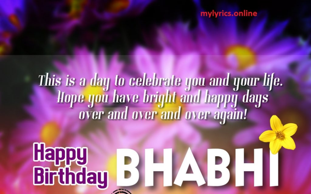 Birthday Wishes To Bhabhi Ji In Hindi English With Images Best Unique Happy Birthday Status Birthday Wishes Belated Happy Birthday Wishes