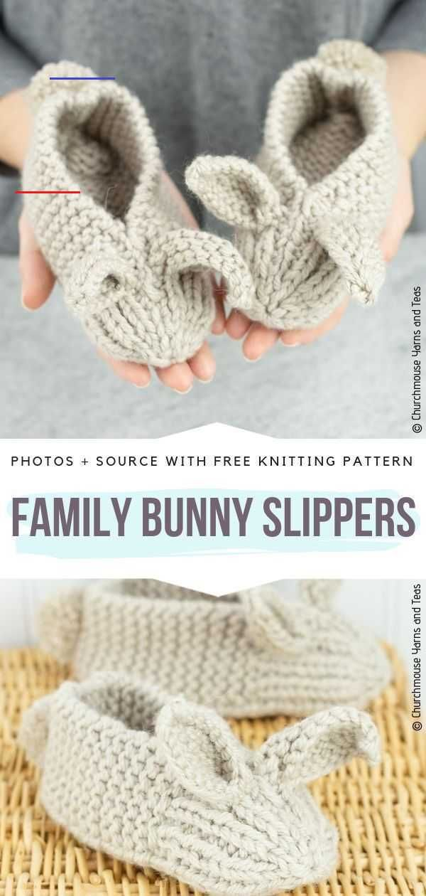 Cute Bunny Slippers Ideas Free Knitting Patterns - # ...