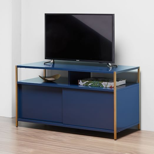 Zane Media Console 40 Quot Navy Simple Living Room Home