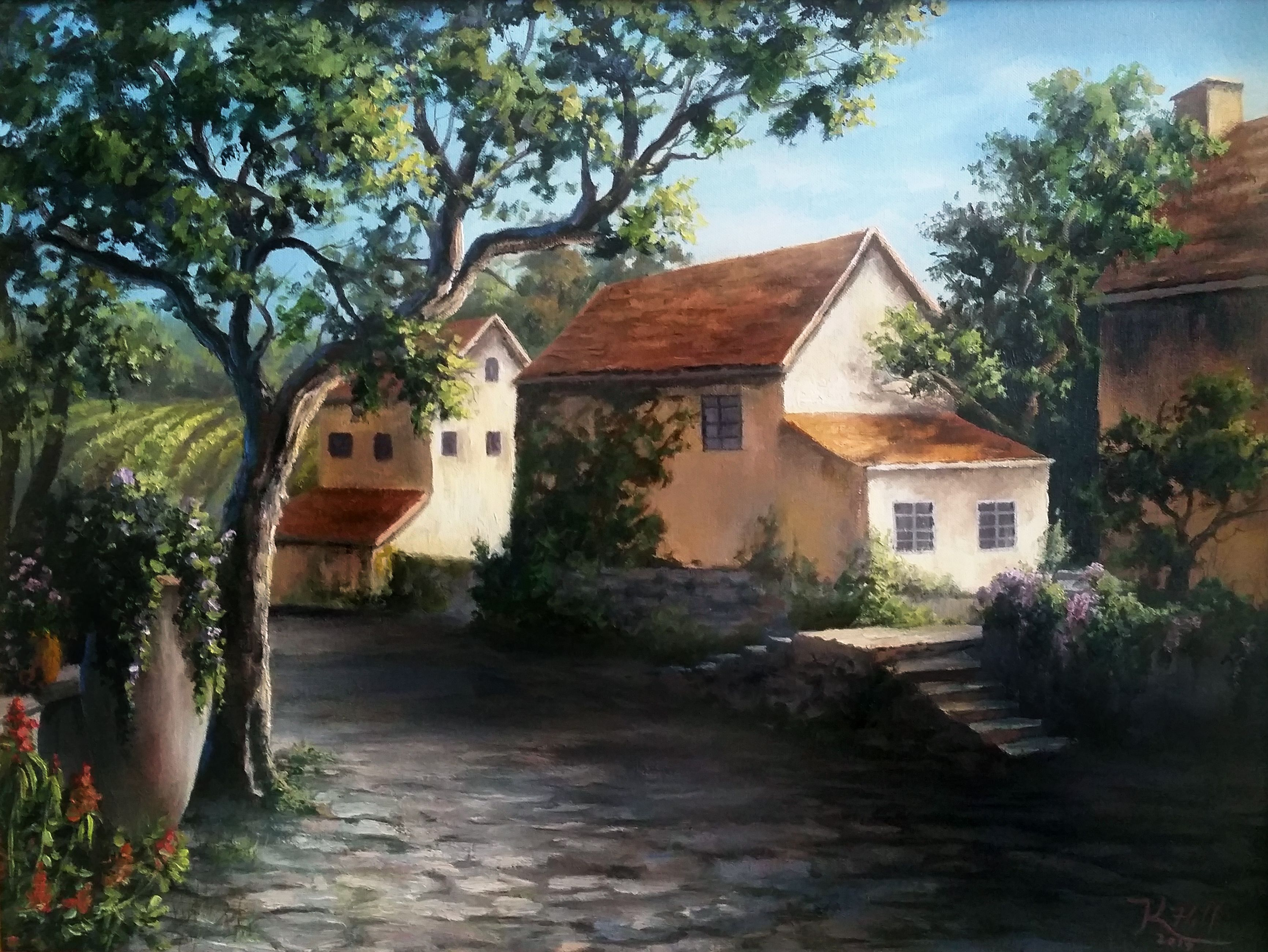 31  Schönheit countryside house for Countryside House Painting  585eri