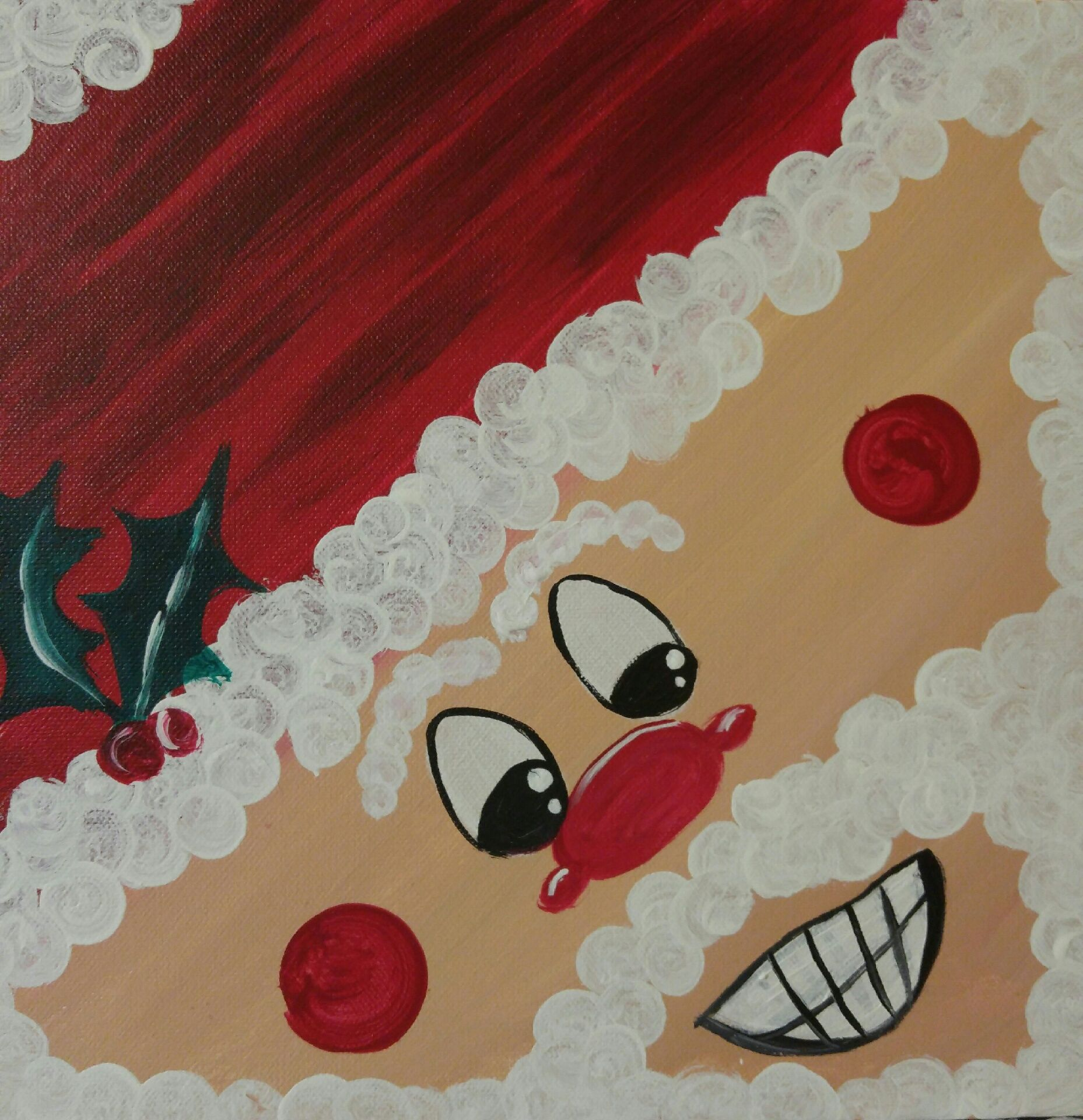 "KIDS PAINTING! ""Smiling Santa"" available for 1 hr painting for classes"