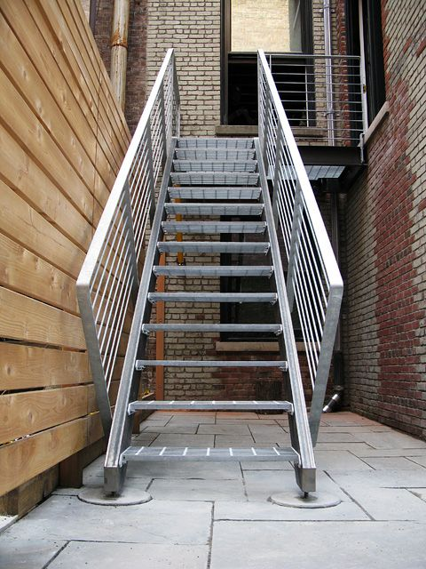 Best Custom Galvanized Exterior Stair By Face Design 640 x 480