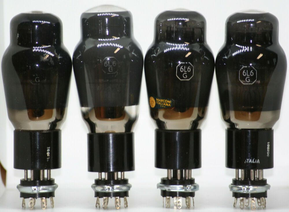 6l6 Quad Tube Marconi G Ga Gc El34 350b Valve Rca 5881 6p3s Metal