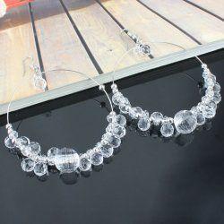 Alliage blanc + boucles d'oreilles perles acryliques