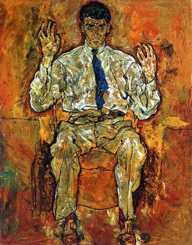 Egon Schiele Portrait Of The Painter Paris Von Guetersloh