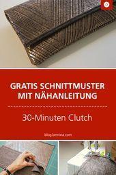 Instructions de couture pour une pochette de 30 minutes Instructions de couture gratuites avec découpe …   – uncategorized