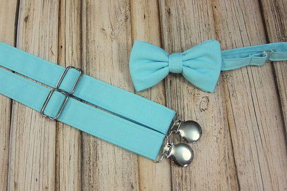 a94d44e5c52a Bahama Blue Aqua/Teal Pool Bow Tie and Suspenders set Similar Davids Bridal  Pool (Men, boys, baby,