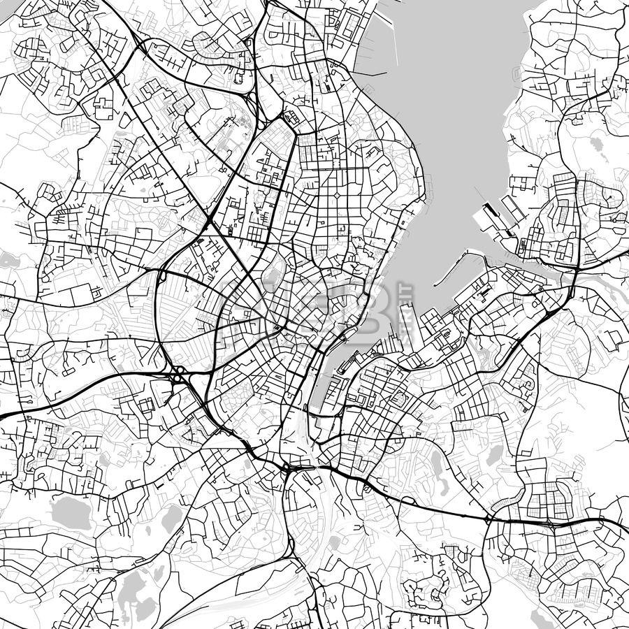 Kiel Germany Vector Map Light Kiel and Communication design