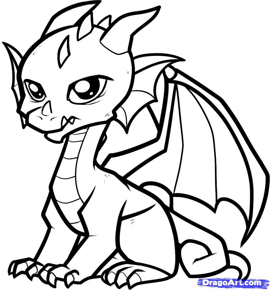 Coloring Pages Cute Dragon Coloring