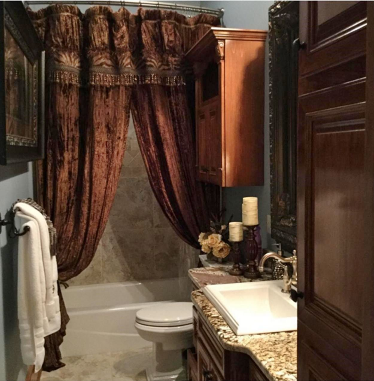 Custom Decorative Shower Curtain by ReillyChance